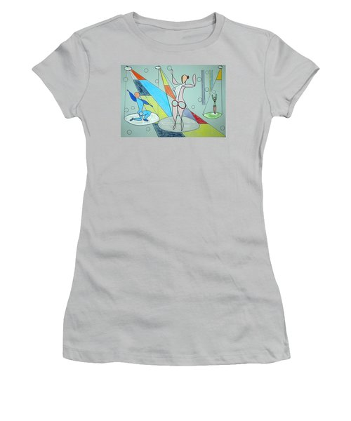 Women's T-Shirt (Junior Cut) featuring the drawing The Jugglers by J R Seymour