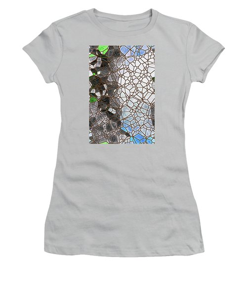 Women's T-Shirt (Athletic Fit) featuring the digital art The Lovely Spider by Wendy J St Christopher