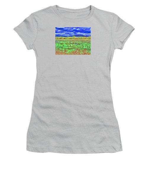 Women's T-Shirt (Junior Cut) featuring the photograph The Marshlands by B Wayne Mullins