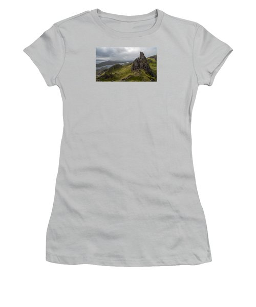 The Old Man Of Storr, Isle Of Skye, Uk Women's T-Shirt (Athletic Fit)