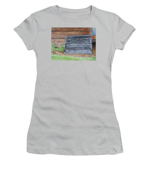 The Old Porch Swing Women's T-Shirt (Athletic Fit)