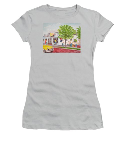 The Park Shoppe Portsmouth Ohio Women's T-Shirt (Junior Cut) by Frank Hunter