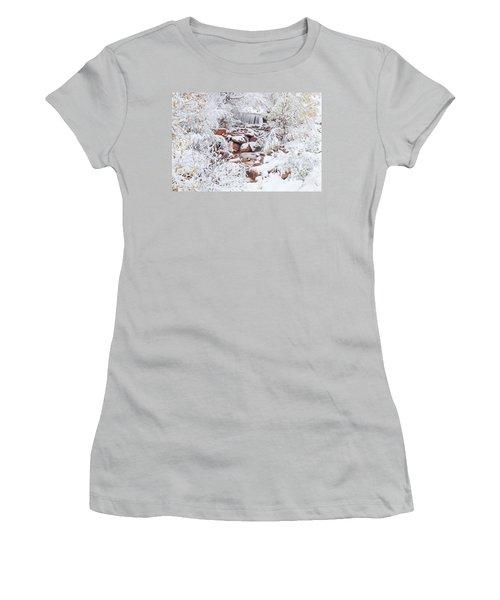 The Poetic Beauty Of Freshly Fallen Snow  Women's T-Shirt (Junior Cut) by Bijan Pirnia