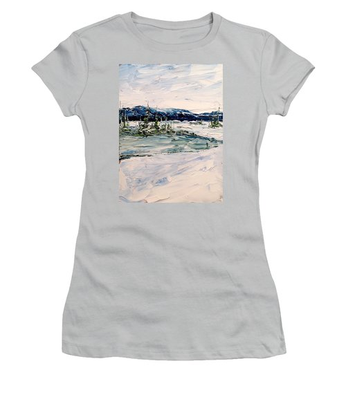 The Pond - Winter Women's T-Shirt (Athletic Fit)