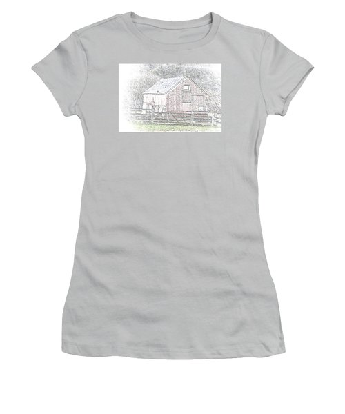 The Red Barn Women's T-Shirt (Athletic Fit)
