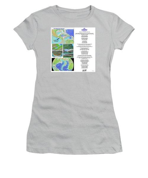 The Spirit Of Atlantis Poem Women's T-Shirt (Athletic Fit)