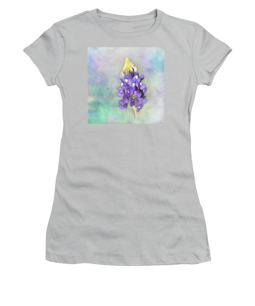 Women's T-Shirt (Junior Cut) featuring the photograph The Texas State Flower The Bluebonnet by David and Carol Kelly