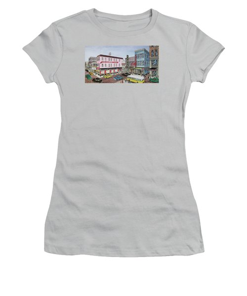 The Theater District Portsmouth Ohio 1948 Women's T-Shirt (Junior Cut) by Frank Hunter