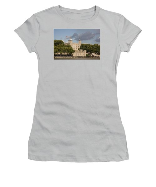 Women's T-Shirt (Junior Cut) featuring the photograph The Tower Of London. by Christopher Rowlands