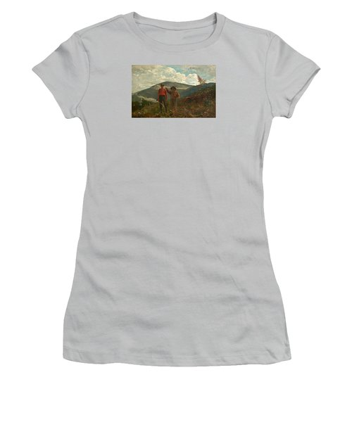 Women's T-Shirt (Junior Cut) featuring the painting The Two Guides by Winslow Homer