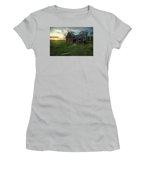 Women's T-Shirt (Junior Cut) featuring the photograph The Way She Goes by Aaron J Groen