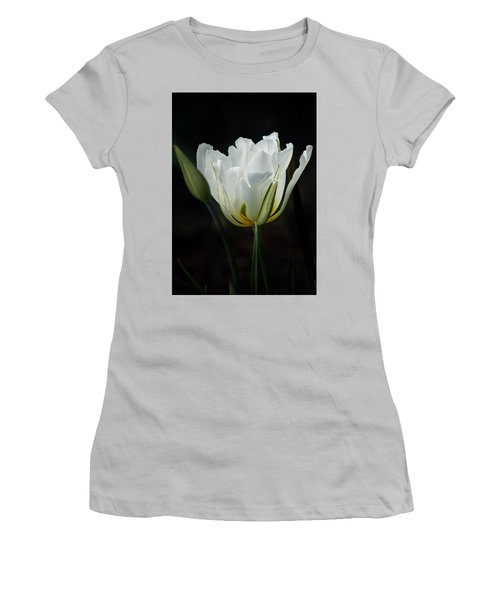 Women's T-Shirt (Junior Cut) featuring the photograph The White Tulip by Richard Cummings