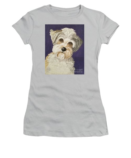 Women's T-Shirt (Junior Cut) featuring the painting Those Eyes by Ania M Milo