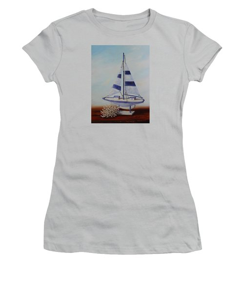 Thoughts Of Sea Women's T-Shirt (Athletic Fit)