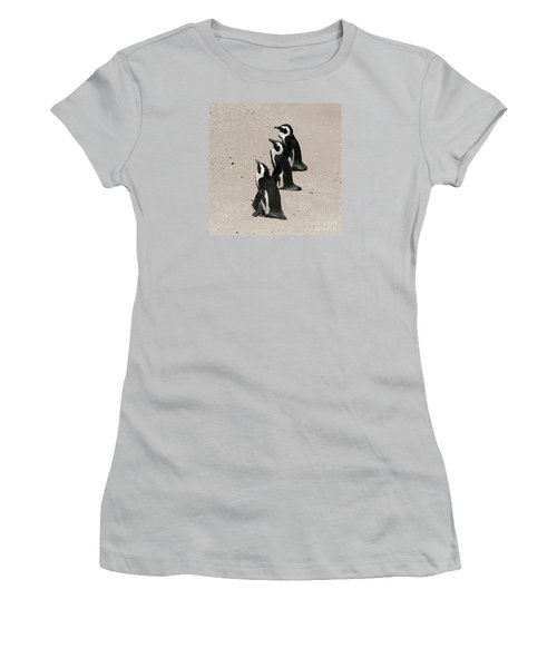 Three African Penguins Women's T-Shirt (Athletic Fit)