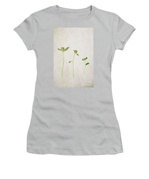 Three Buds Women's T-Shirt (Junior Cut) by Stephanie Frey