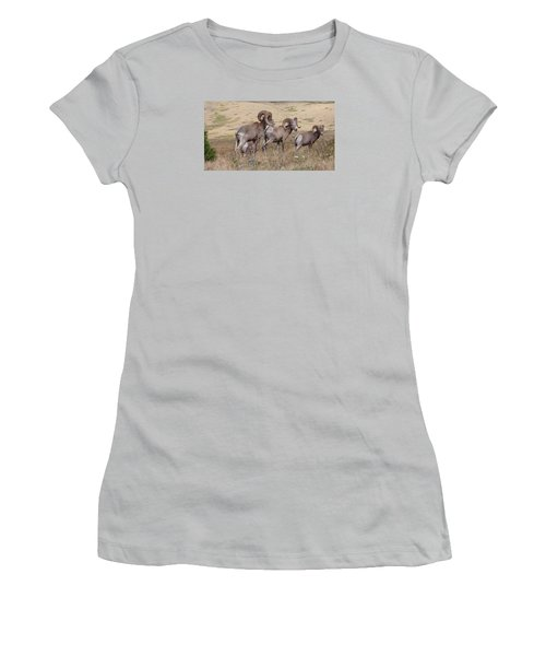 Women's T-Shirt (Athletic Fit) featuring the photograph Three Of A Kind by Fran Riley