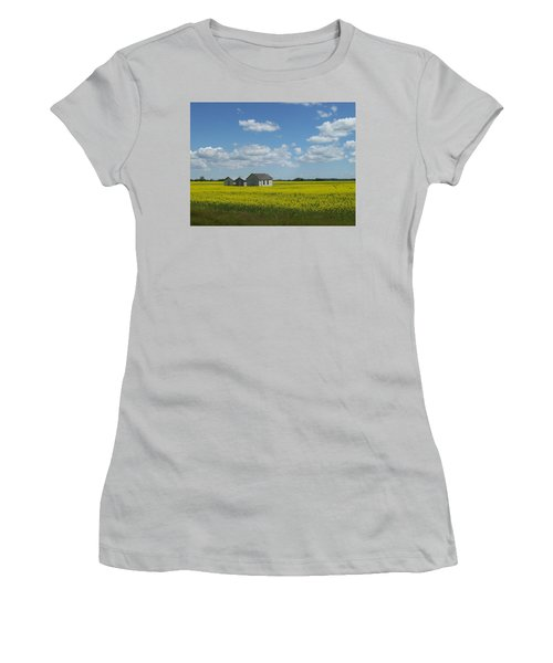 Women's T-Shirt (Junior Cut) featuring the photograph Three Of A Kind by Mary Mikawoz