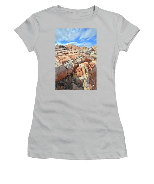 Tiger Stripes In Valley Of Fire Women's T-Shirt (Junior Cut) by Ray Mathis