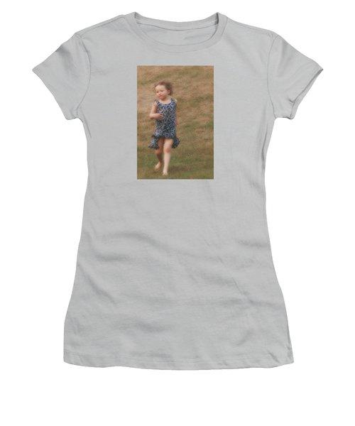 To Be Free Women's T-Shirt (Junior Cut) by The Art Of Marilyn Ridoutt-Greene