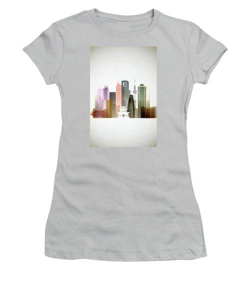 Tokyo  Cityscape Women's T-Shirt (Junior Cut) by Dim Dom