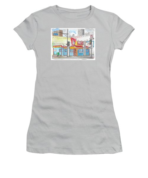 Tony Burger, Downtown Los Angeles, California Women's T-Shirt (Athletic Fit)