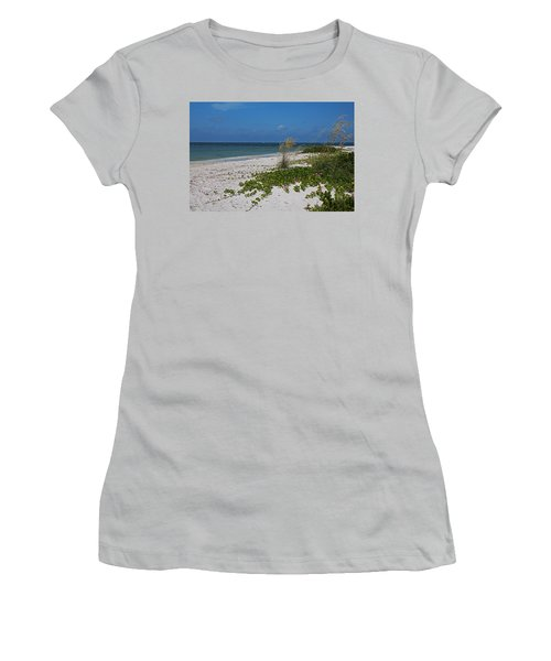 Women's T-Shirt (Athletic Fit) featuring the photograph Too Much Space Between Us by Michiale Schneider