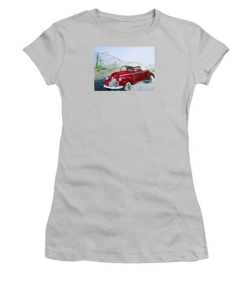 Topless 1940 Chevy Women's T-Shirt (Athletic Fit)