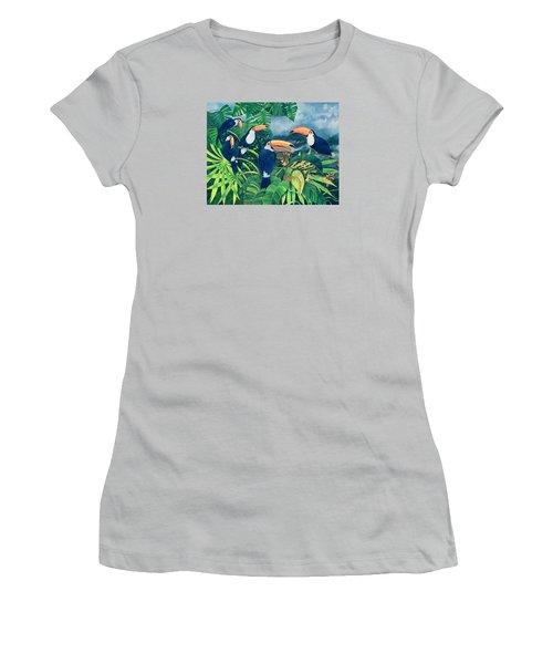Toucan Talk Women's T-Shirt (Junior Cut) by Lisa Graa Jensen