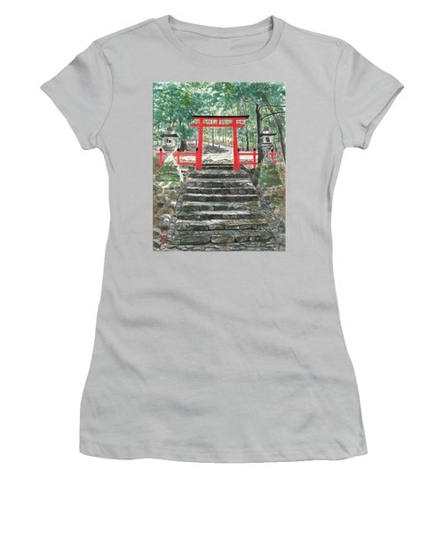 Tranquility Torii Women's T-Shirt (Athletic Fit)
