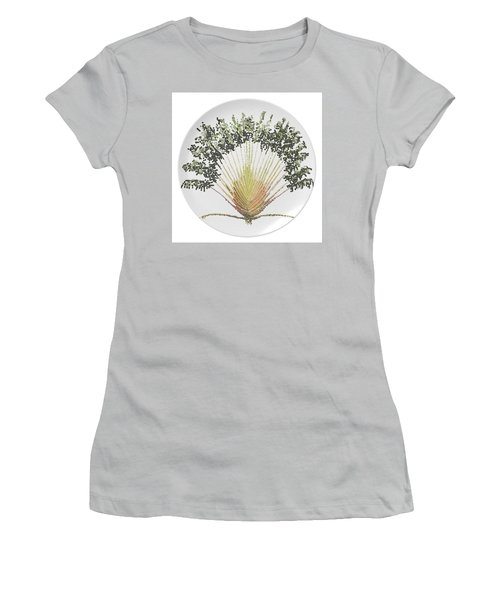 Travelers Palm Plate Women's T-Shirt (Junior Cut) by R  Allen Swezey