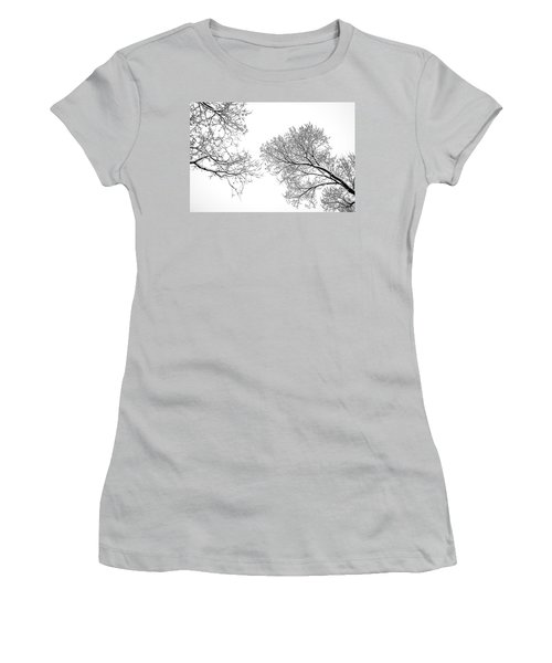 Women's T-Shirt (Junior Cut) featuring the photograph Trees Reaching by Marilyn Hunt