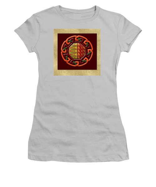 Women's T-Shirt (Junior Cut) featuring the painting Tribal Celt Earthiness by Kandy Hurley