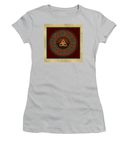 Women's T-Shirt (Junior Cut) featuring the painting Tribal Celt Triquetra Symbol by Kandy Hurley