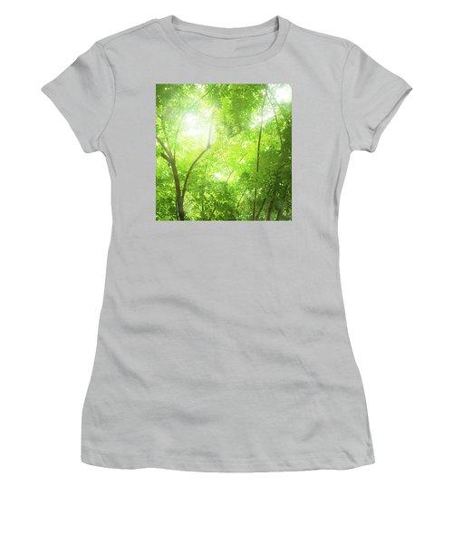 Tropical Forest Women's T-Shirt (Junior Cut) by Atiketta Sangasaeng