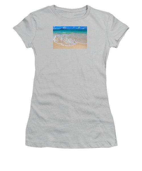 Women's T-Shirt (Junior Cut) featuring the photograph Tropical Hawaiian Shore by Kerri Ligatich