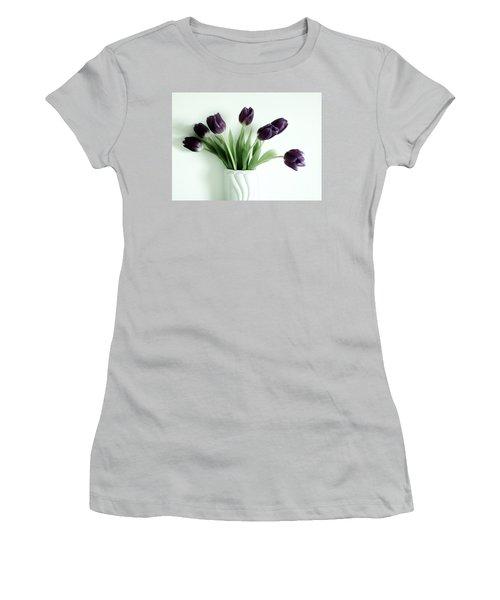 Tulips For You Women's T-Shirt (Junior Cut) by Marsha Heiken