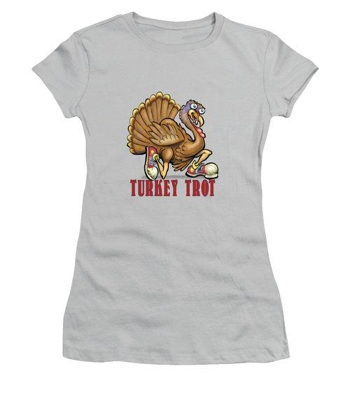 Turkey Trot Women's T-Shirt (Junior Cut) by Kevin Middleton