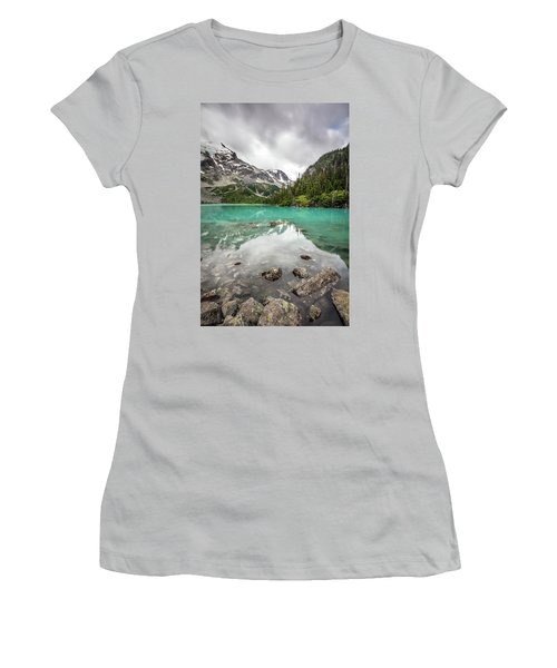 Turquoise Lake In The Mountains Women's T-Shirt (Junior Cut) by Pierre Leclerc Photography