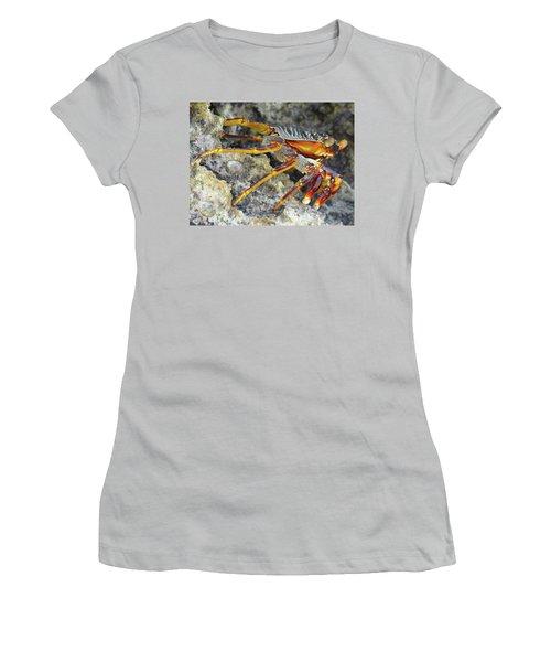 Turtle Bay Resort Watamu Kenya Rock Crab Women's T-Shirt (Junior Cut) by Exploramum Exploramum