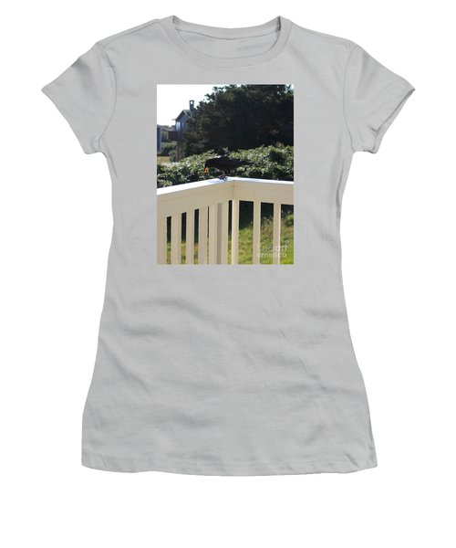 Women's T-Shirt (Athletic Fit) featuring the photograph Two In The Beak by Marie Neder