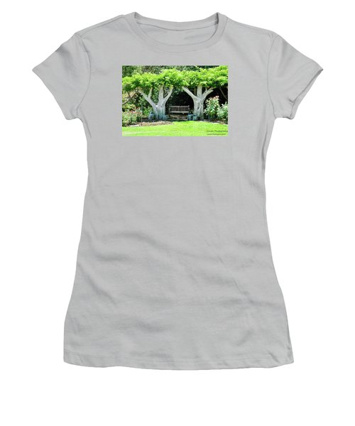Two Tall Trees, Paradise, Romantic Spot Women's T-Shirt (Junior Cut) by Gandz Photography