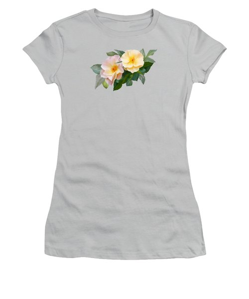 Two Wild Roses Women's T-Shirt (Athletic Fit)
