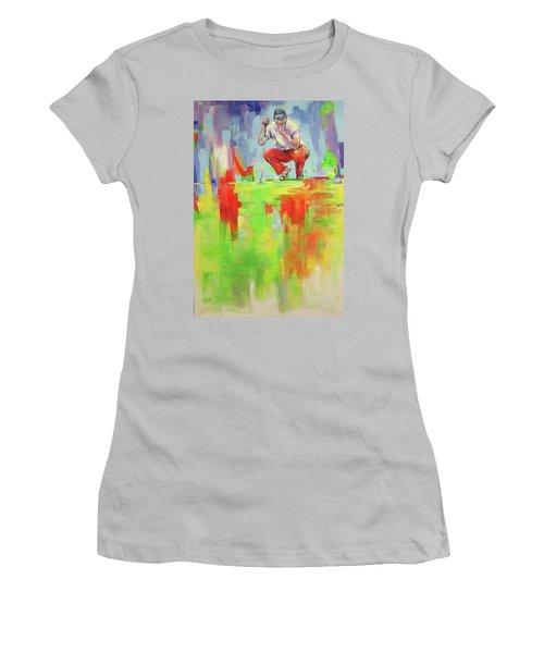 Ueberpruefe Die Luege Des Gruens   Checking The Lie Of The Green Women's T-Shirt (Athletic Fit)