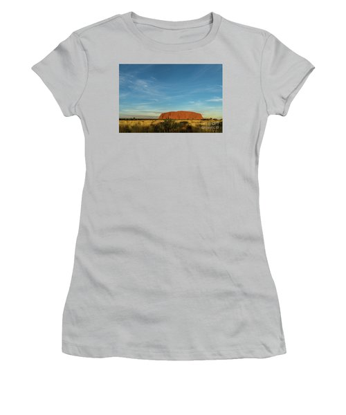 Women's T-Shirt (Athletic Fit) featuring the photograph Uluru Sunset 01 by Werner Padarin