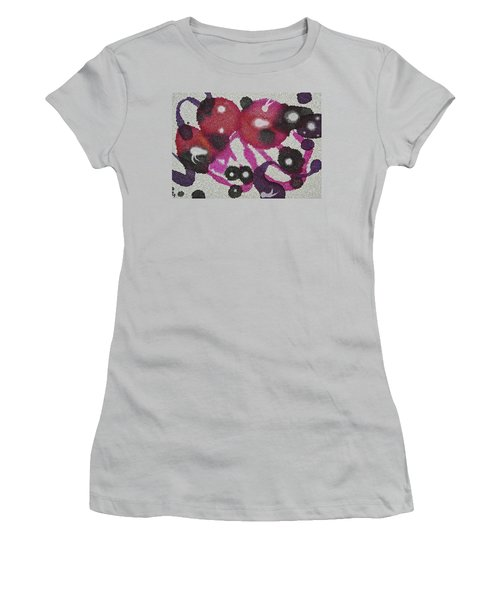 Women's T-Shirt (Athletic Fit) featuring the painting Universal by Michele Myers