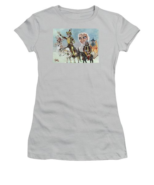 Women's T-Shirt (Junior Cut) featuring the painting Unreachable Star by JA George AKA The GYPSY