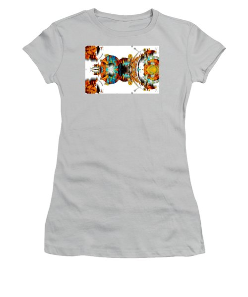 Women's T-Shirt (Athletic Fit) featuring the digital art Untitled Series 992.042212 -b by Kris Haas