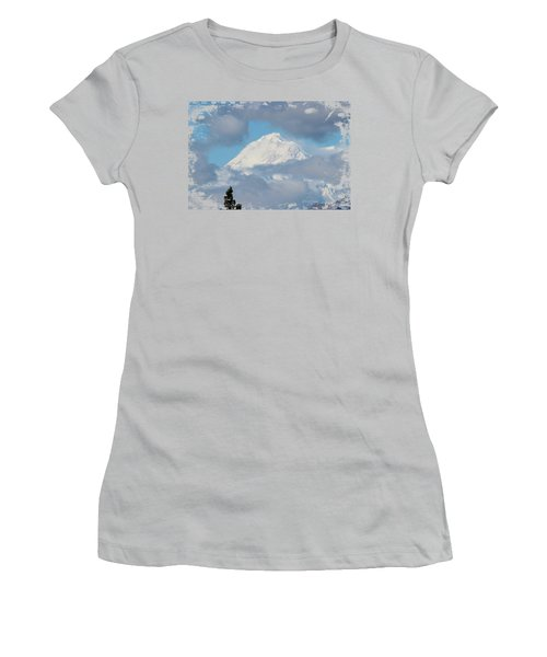 Up In The Clouds Women's T-Shirt (Junior Cut) by Di Designs
