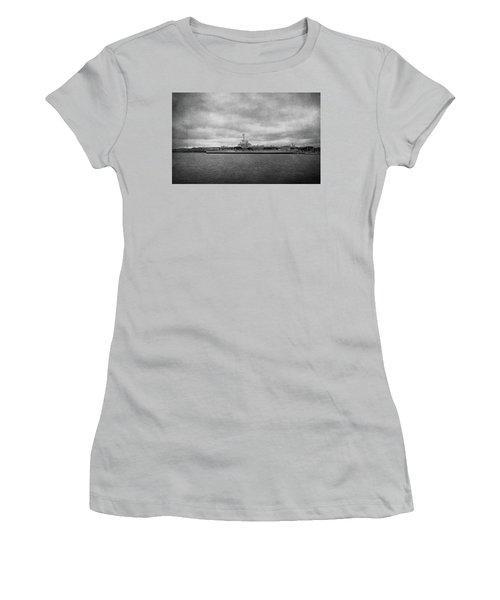 Women's T-Shirt (Junior Cut) featuring the photograph Uss Yorktown by Sandy Keeton
